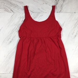 ⭐️ L (12-14) FADED FLORY RED SOFT CASUAL DRESS